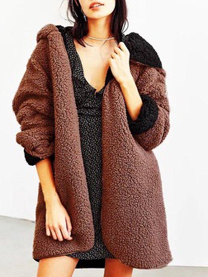 Reversible Casual Coat Hoodie Cardigan