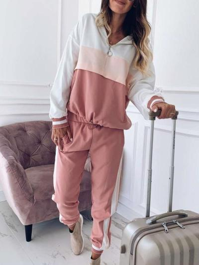 Fashion Casual Gored Hoodie Long sleeve Suits