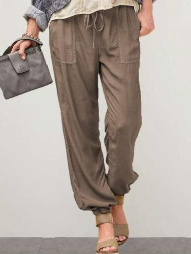 Fashion Casual Pure Pencil Pants