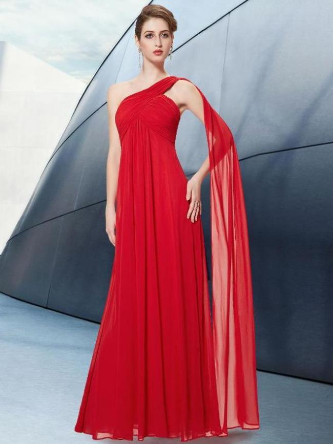 Fashion Irregular Single-shoulder Evening Dresses