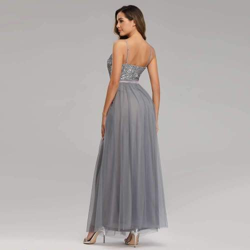 Fashion Sequin Grenadine Vest Evening Dresses
