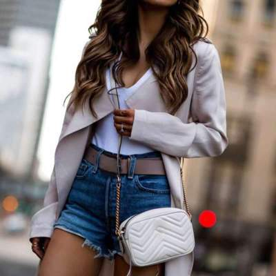 Pure Long sleeve Lapel Trench Coats