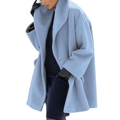 Fashion Cape collar Pure Long sleeve Coats