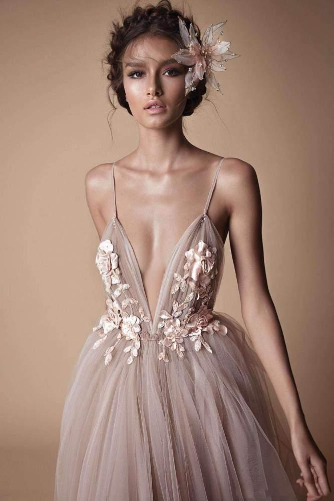 Fashion V neck Backless Vest Evening Dresses