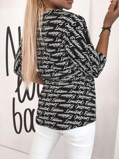 Fashion Word print Round neck Half sleeve T-Shirts
