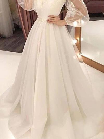 Elegant Round neck Off shoulder women lace evening dresses