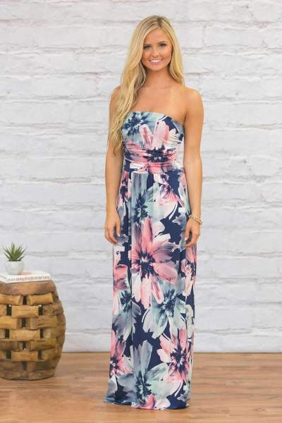 Sexy Vest Backless Print Maxi Dresses
