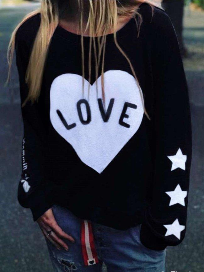 Fashion Round neck Print Sweatshirts