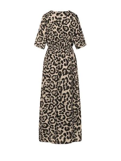Printed deep V fashion maxi dresses
