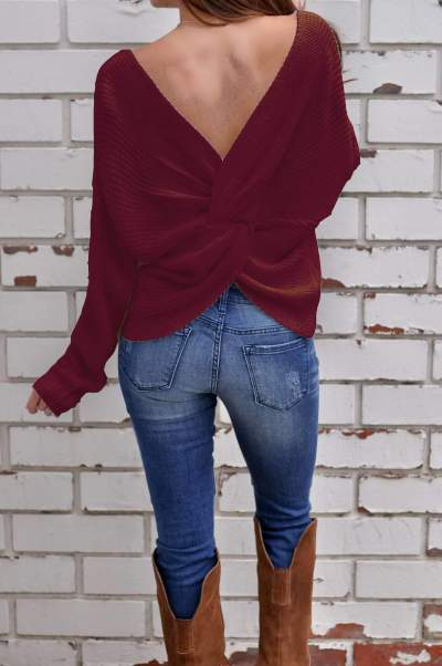 Fashion Pure Knit Snarls Long sleeve Sweaters