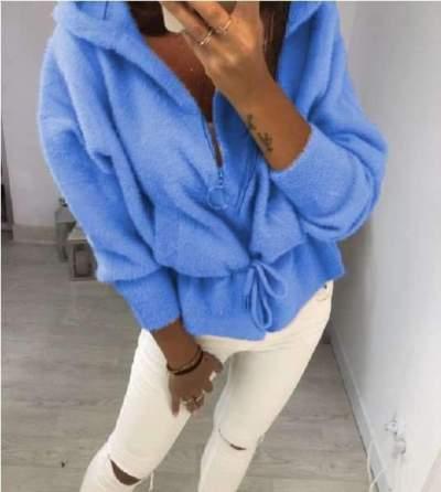 Fashion Pure Plush Lacing Hoodies Sweatshirts