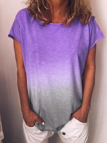 Rainbow gradient printed T-shirts