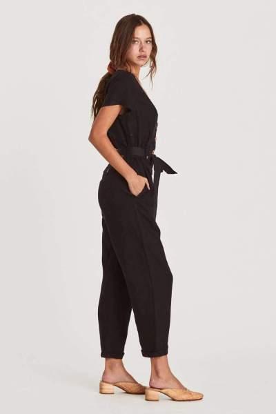 Fashion Pure V neck  Fastener Short sleeve Jumpsuits