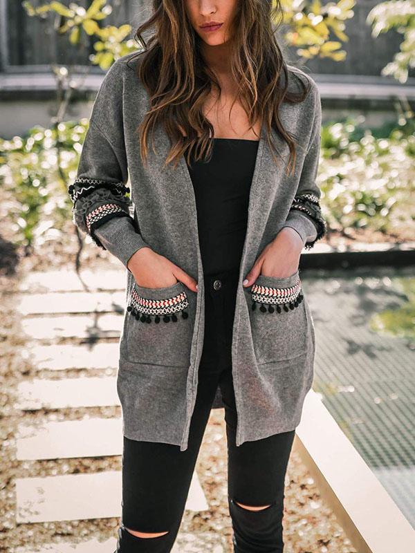 Women Stylish Split Sleeve Cardigan for Woman