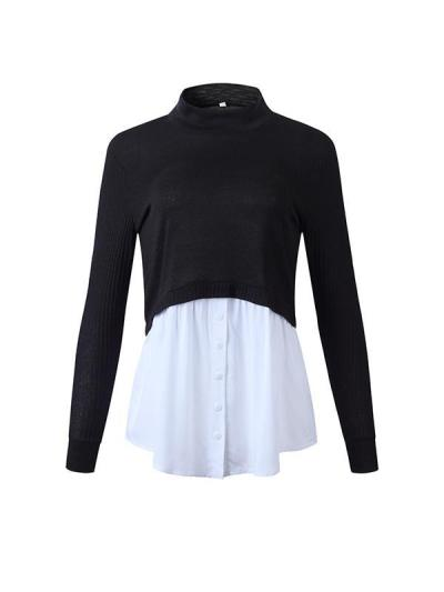 Women high neck fashion Sweaters
