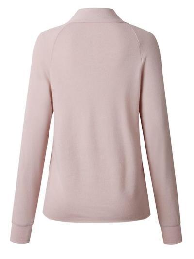 Casual Pure Long sleeve Lapel Sweatshirts