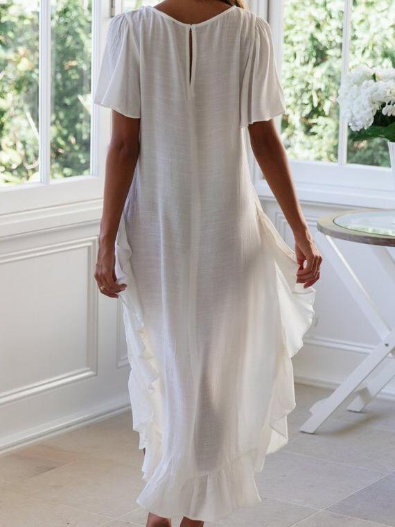 Fashion Swllowtail  Falbala Short sleeve T-Shirts
