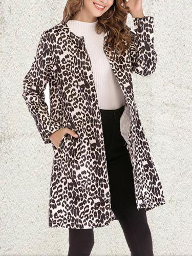 Fashion Leopard Print Woman Coat
