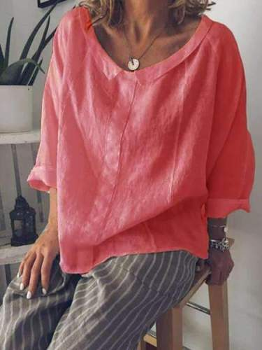 Pure Round neck Blouses