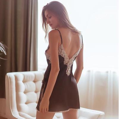 Sexy  V neck Vest Pajamas Shift Dresses