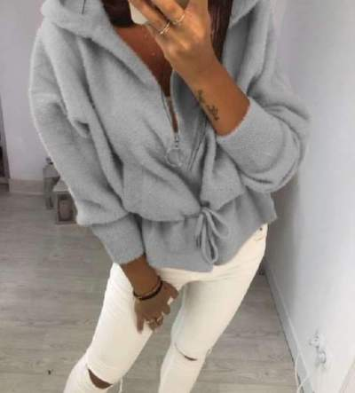 Fashion Pure Plush Lacing Hoodies Sweatshirts