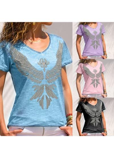 Women Summer Printed Short Sleeve T-shirts