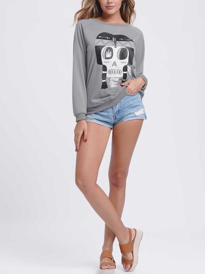 Women printed long sleeve sweatshirts