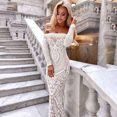 Sexy Off shoulder Fishtail Evening Dresses