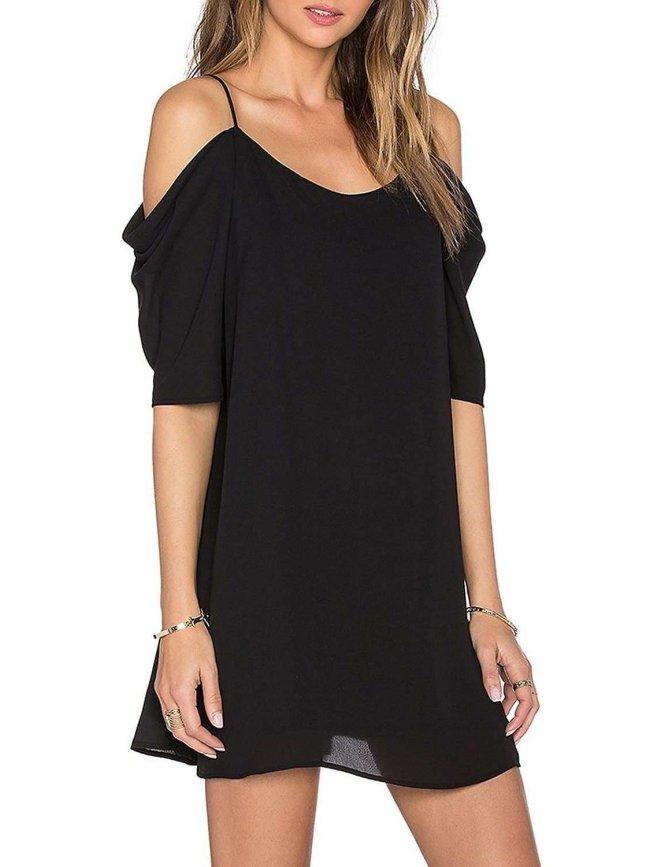 Fashion Vest Short sleeve Shift Dresses