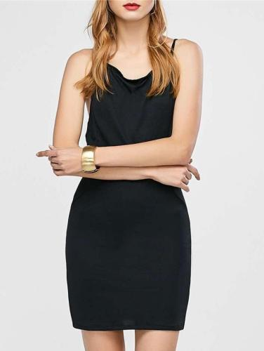 Fashion Sexy  Intersect Vest Skater Dresses