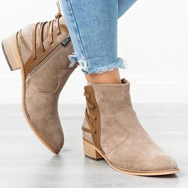 Women suede Pointed Toe boots