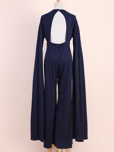 Elegant women plain long length jumpauits