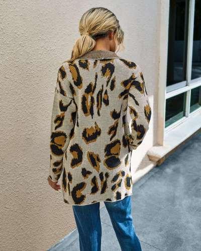 Fashion Print Lapel Long sleeve Coats