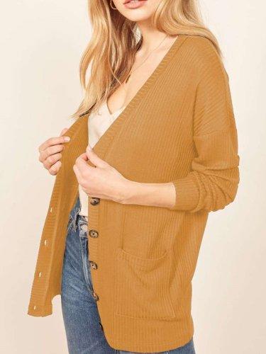 Fashion Plus Knit Long sleeve Cardigan