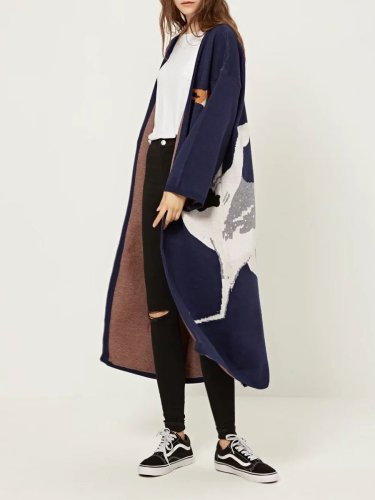 Fashion Crane Jacquard Cardigans Woman Sweaters