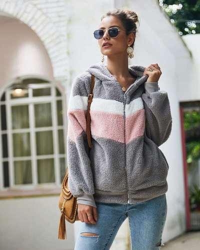 Fashion Loose Gored Hairy Hoodies & Sweatshirts