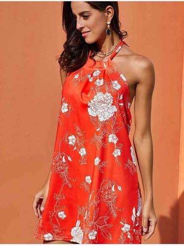 Floral Backless Off shoulder Shift Dresses