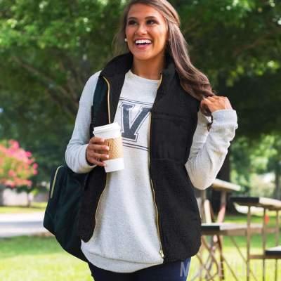 Fashion Plush Stand collar Zipper Jackets