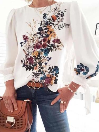 Fashion Printed floral long sleeve T-shirts
