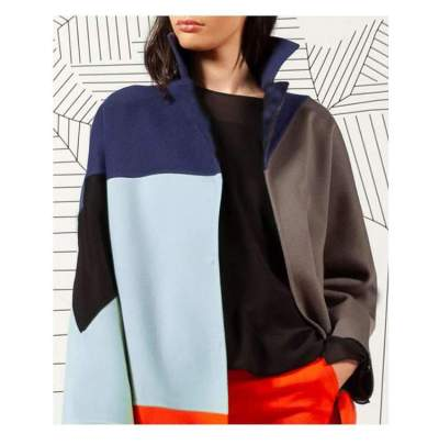 Fashion Gored Long sleeve Lapel Knit Coats