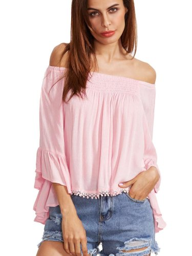 Summer Casual Off shoulder  Chiffon T-Shirts