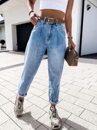 Fashion Casual High waist Jean Pants