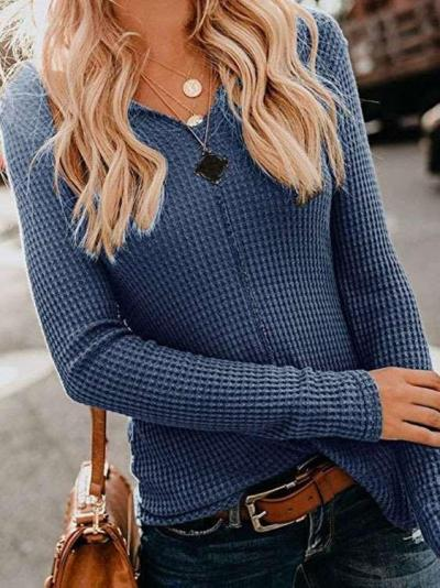 Fashion Pure Knit Long sleeve T-Shirts