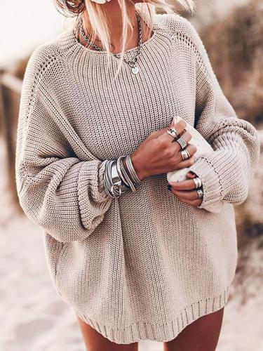 Loose round neck women fashion sweaters