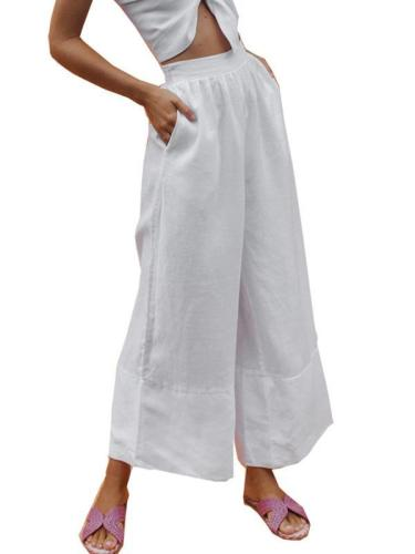 Linen loose new cotton trousers ladies trousers long pants