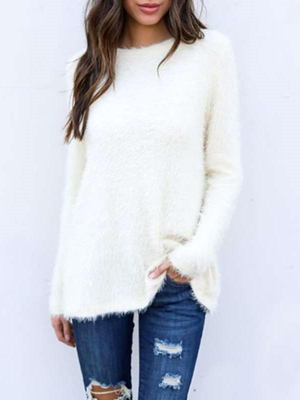 Fashion Loose Pure Long sleeve Sweaters