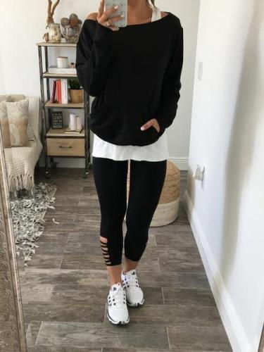 Two Pieces Long Sleeve Casual T-Shirts