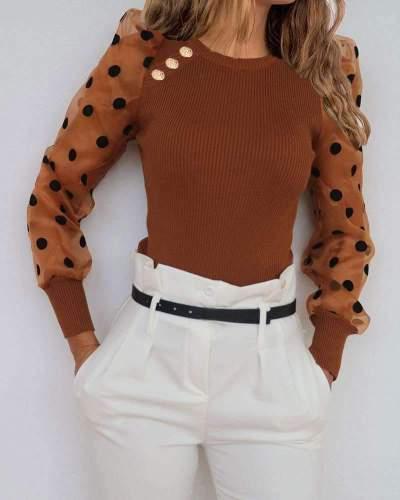 Fashion Gored Rpund neck Long sleeve T-Shirts