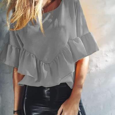 Fashion Pure Loose Round neck T-Shirts