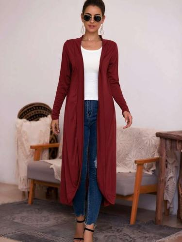 Fashion Pure Cardigan Long Coat